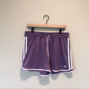 Purple Adidas Shorts